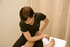Insight Sports Massage Stripping calf muscles